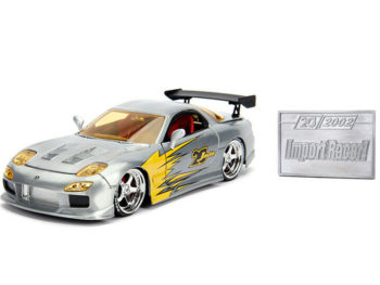 Jada 31088 20th Anniversary Import Racer 1993 Mazda RX-7 1:24 Raw Metal