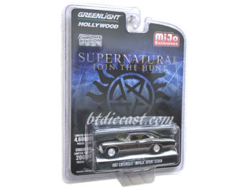 Greenlight 51222 Supernatural 1967 Chevy Impala Sedan 1:64 Black Chrome