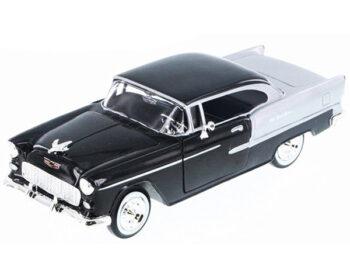 Motormax 73229 1955 Chevy Bel Air Hard Top 1:24 Black Silver