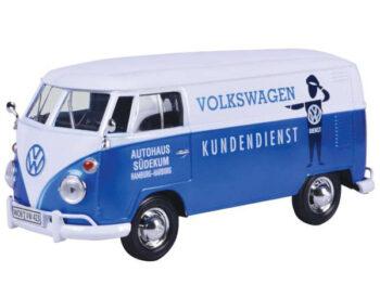 Motormax 79573 Volkswagen Type 2 T1 Delivery Autohaus Sudekum Kundendienst 1:24 Blue
