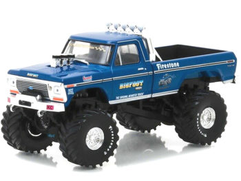 Greenlight 86097 Bigfoot #1 The Original Monster Truck 1974 Ford F-250 1:43 Blue