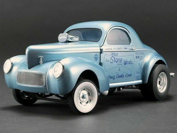 Acme A1800912 1941 Gasser Swindler II 1:18 Stone Woods Cook Blue