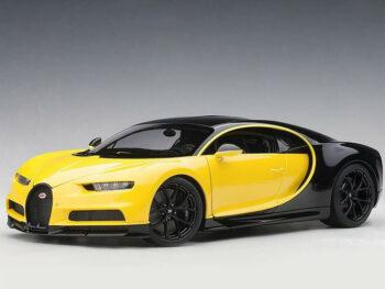 AUTOart 70994 2017 Bugatti Chiron 1:18 Jaune Molsheim Yellow / Nocturne Black