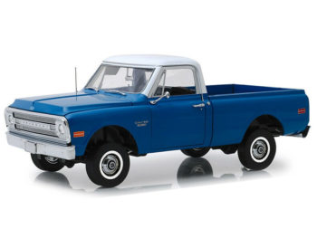 Highway 61 18011 1970 Chevrolet C-10 & Lift Kit 1:18 Dark Blue Poly