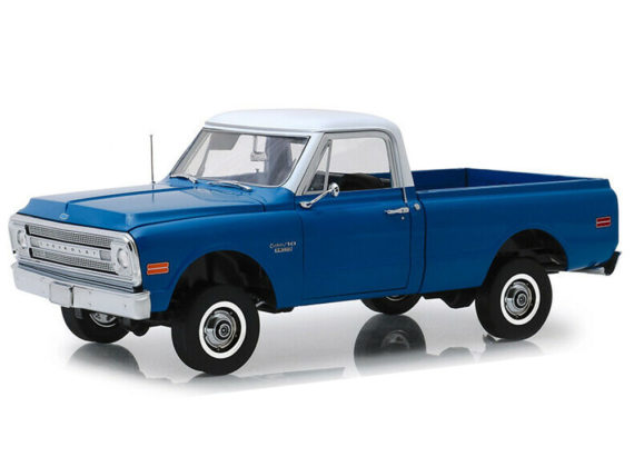 Highway 61 18011 1970 Chevrolet C-10 & Lift Kit 1:18 Dark Blue Poly