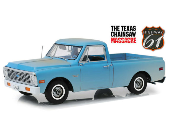 Highway 61 18014 Texas Chainsaw Massacre 1970 Chevrolet C10 1:18 Weathered Light Blue