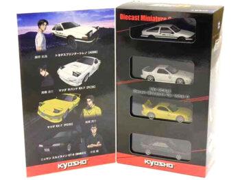 Kyosho K0757A6 Initial D Mazda RX7 FC FD Nissan Skyline R32 & Totota AE86 1:64 Set