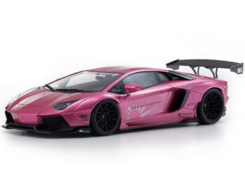 Kyosho KSR 18502 CP LB Works Liberty Walk Lamborghini Aventador 1:18 Pink