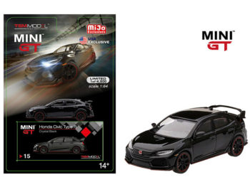 Mini Gt MGT00015 2017 Honda Civic Type R FK8 LHD 1:64 Crystal Black