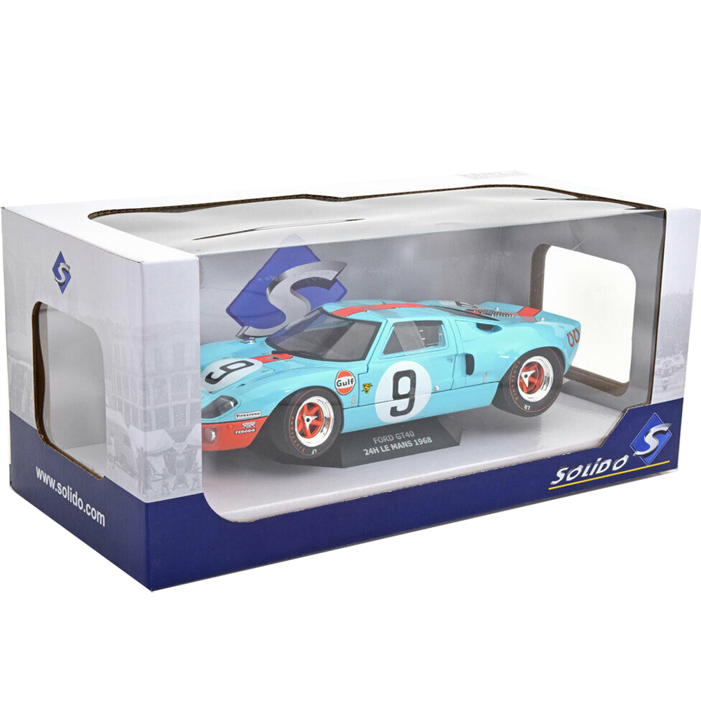 Solido S1803001 1968 Ford GT 40 MKI 24HR Of Le Mans #9