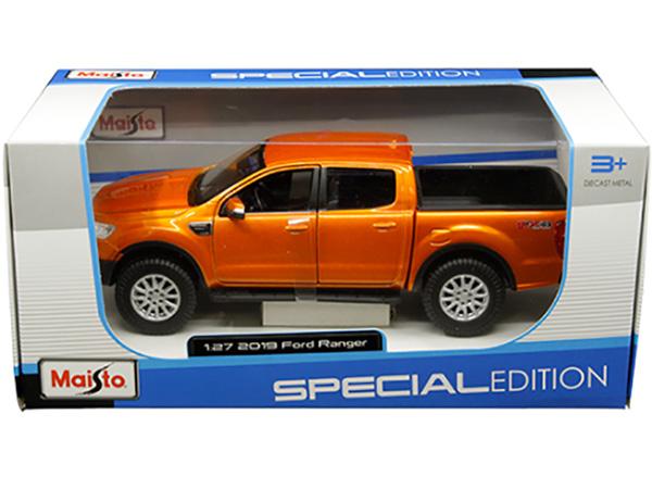 Ford Ranger Pick Up 2019 orange Modellauto 1:24 Maisto