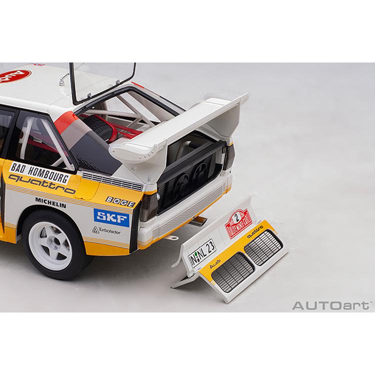1:18 AUTOart 88601 AUDI SPORT QUATTRO S1 #2 RALLY MONTE CARLO 1986 W.RÖHRL//C.GEI